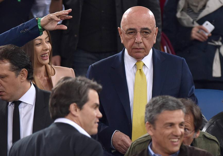 Adriano Galliani in tribuna. Ansa